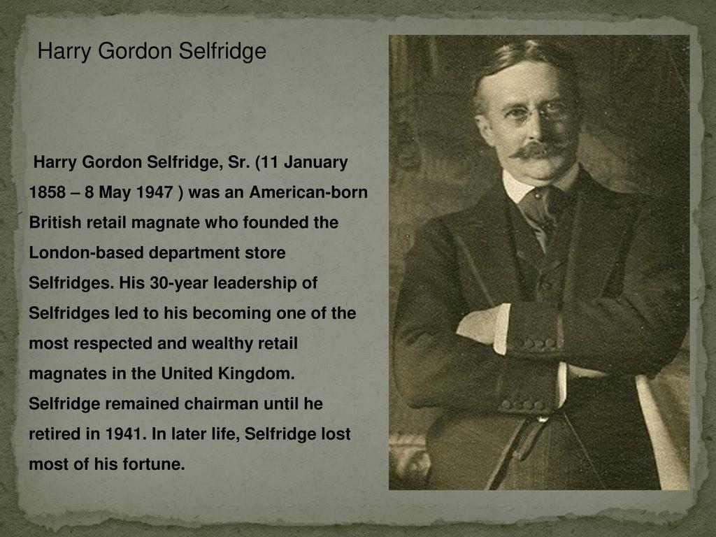 minute harry gordon selfridge - HD1024×768