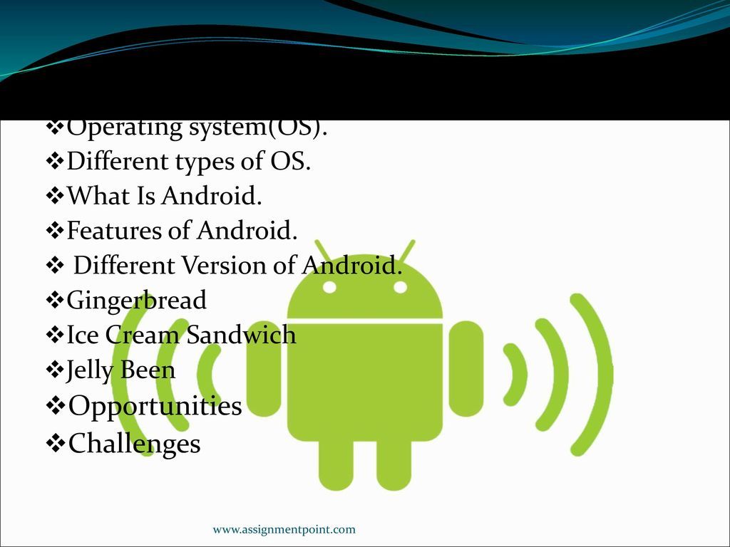 Presentation on Android Operating System - ppt download