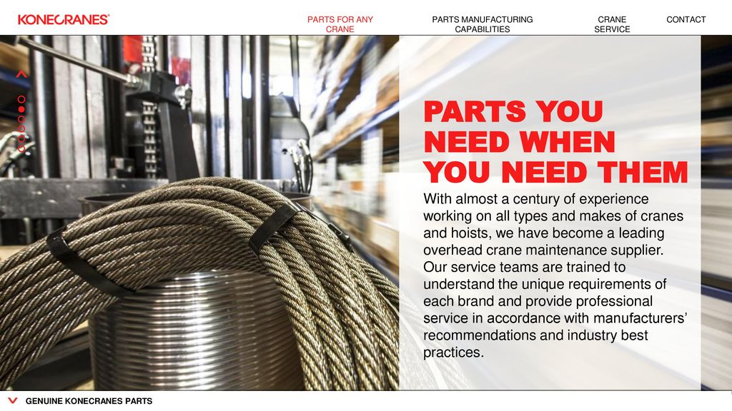 PARTS FOR ALL MAKES CRANE PARTS  - ppt download