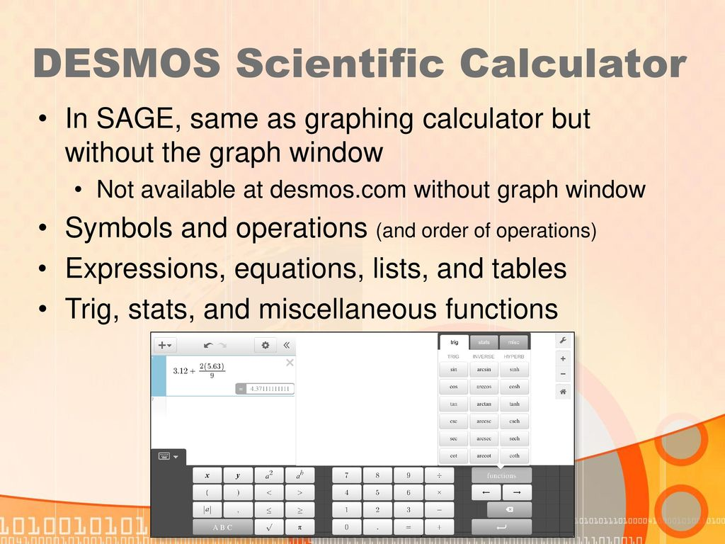 Using the DESMOS Calculator (online and mobile app) - ppt download