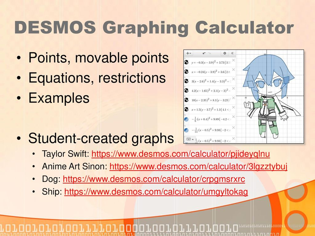 Using the DESMOS Calculator (online and mobile app) - ppt