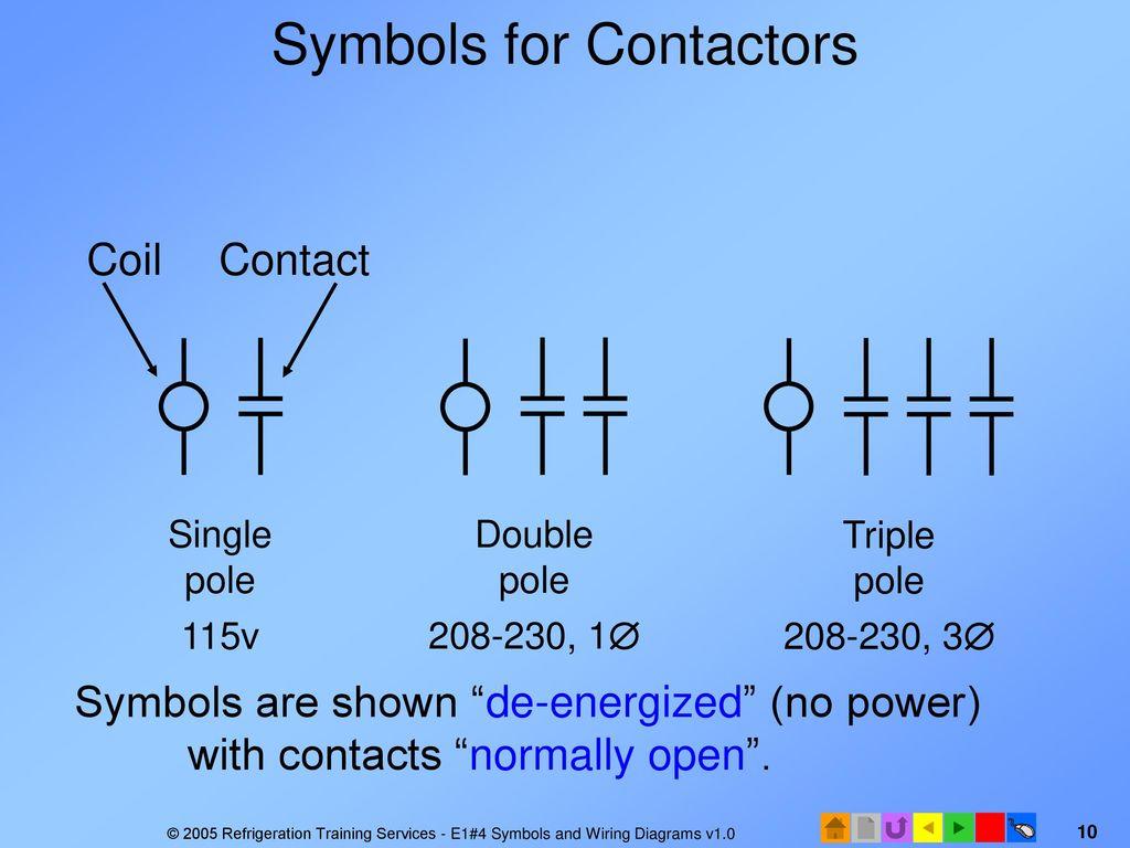 E1 Electrical Fundamentals Ppt Download Contact Wiring Diagram 10 Symbols For Contactors