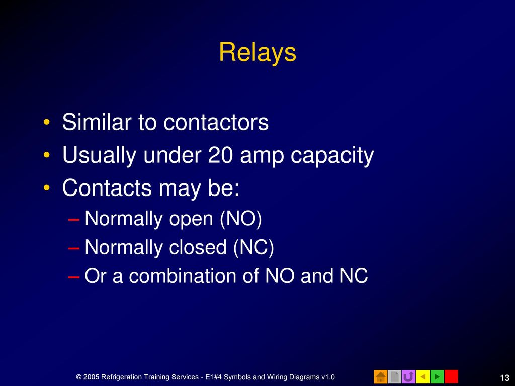 E1 Electrical Fundamentals Ppt Download No And Nc Contacts Of Relay 13 Relays