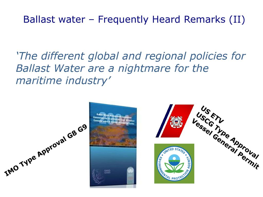 ccee31bd3 Ballast water – Burden or Opportunity? - ppt download