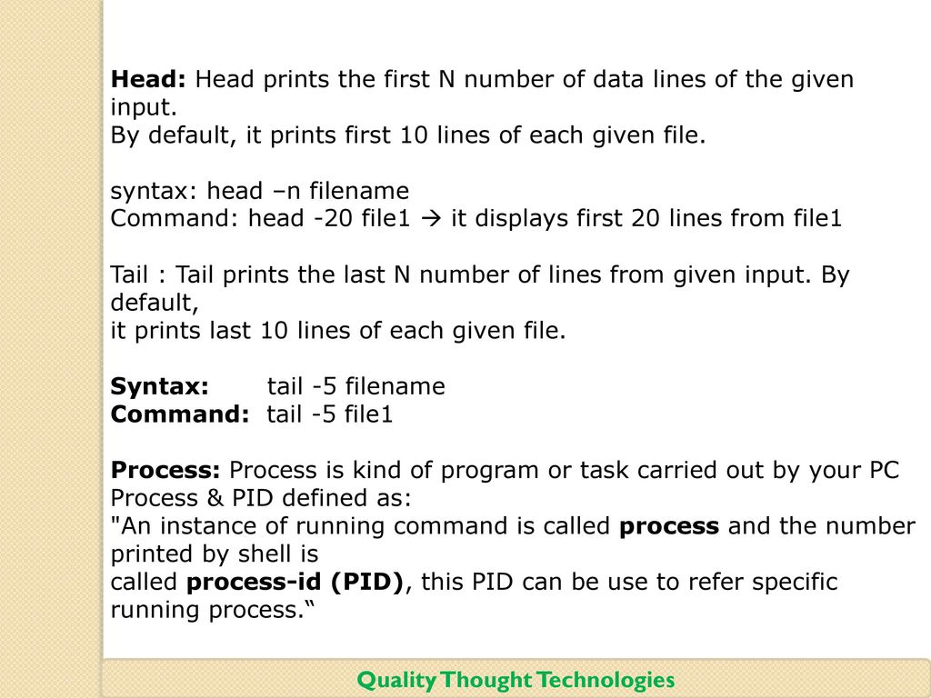 Quality Thought Technologies - ppt download