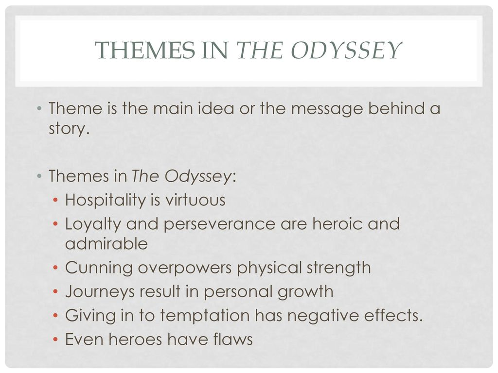 temptation in the odyssey