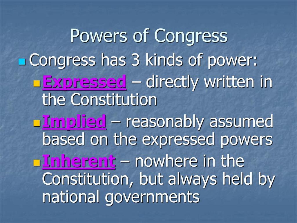 3 Powers ...