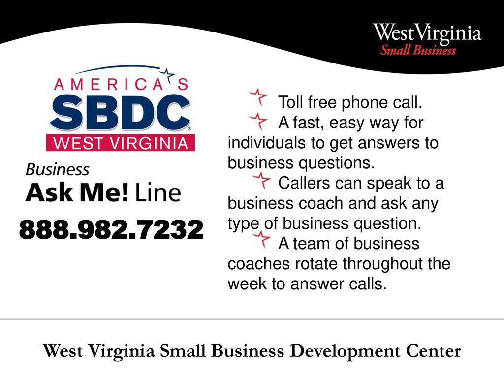 West Virginia Small Business Development Center - ppt download