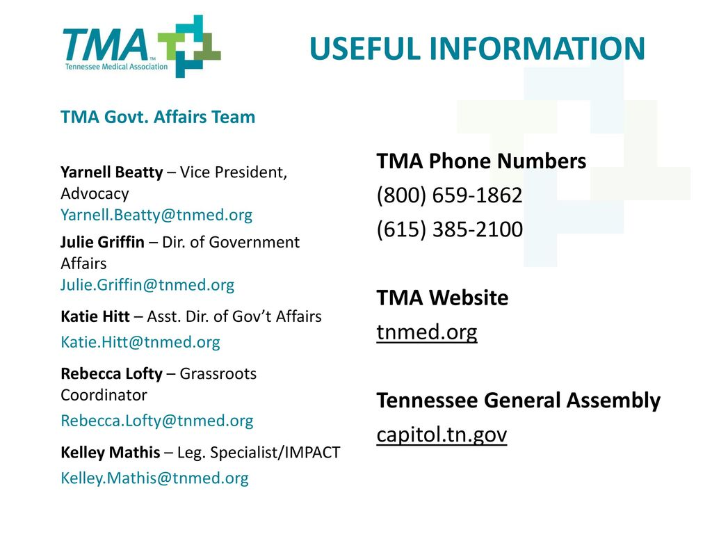 Tennessee Medical Association Advocacy Division - ppt download
