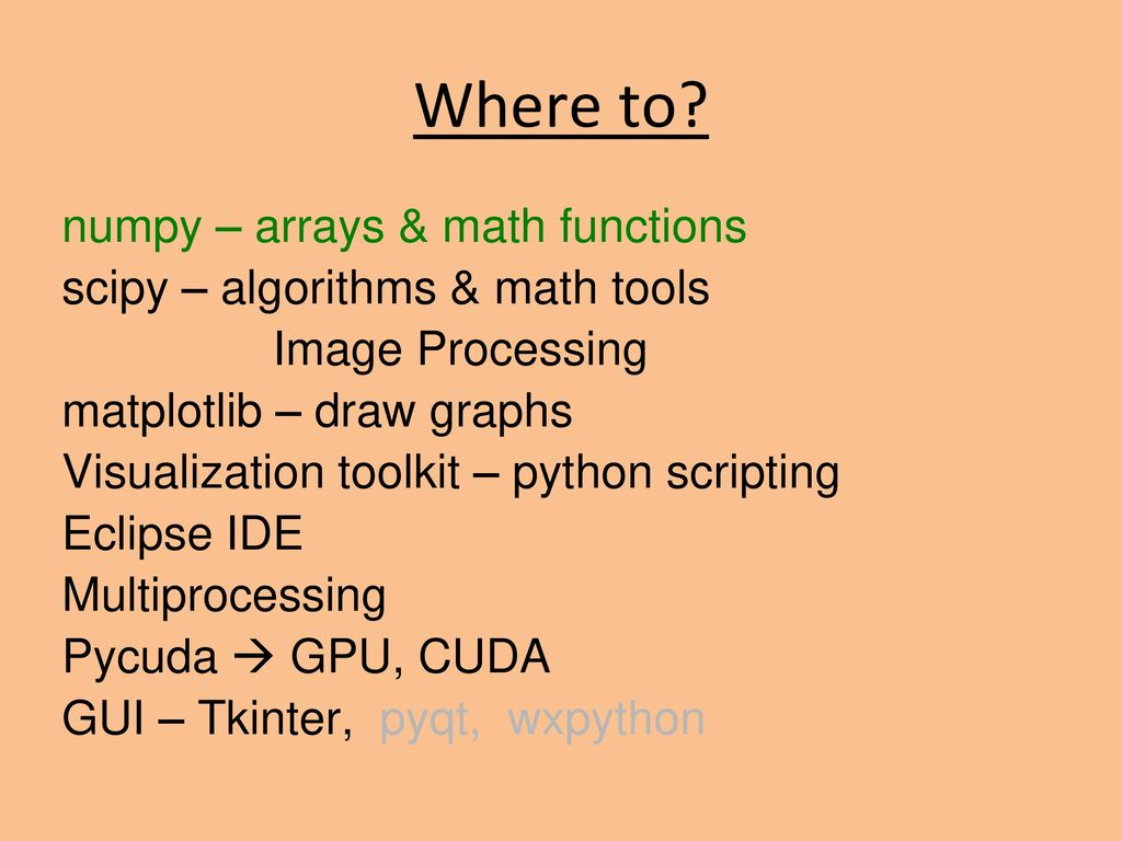 Python Programming Techniques Eliot Feibush PICSciE