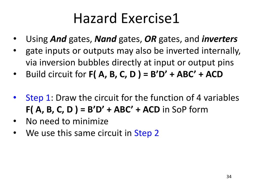 Copied With Permission From Prof Mark Psu Ece Ppt Download Step 1 Build The Circuit 34 Hazard