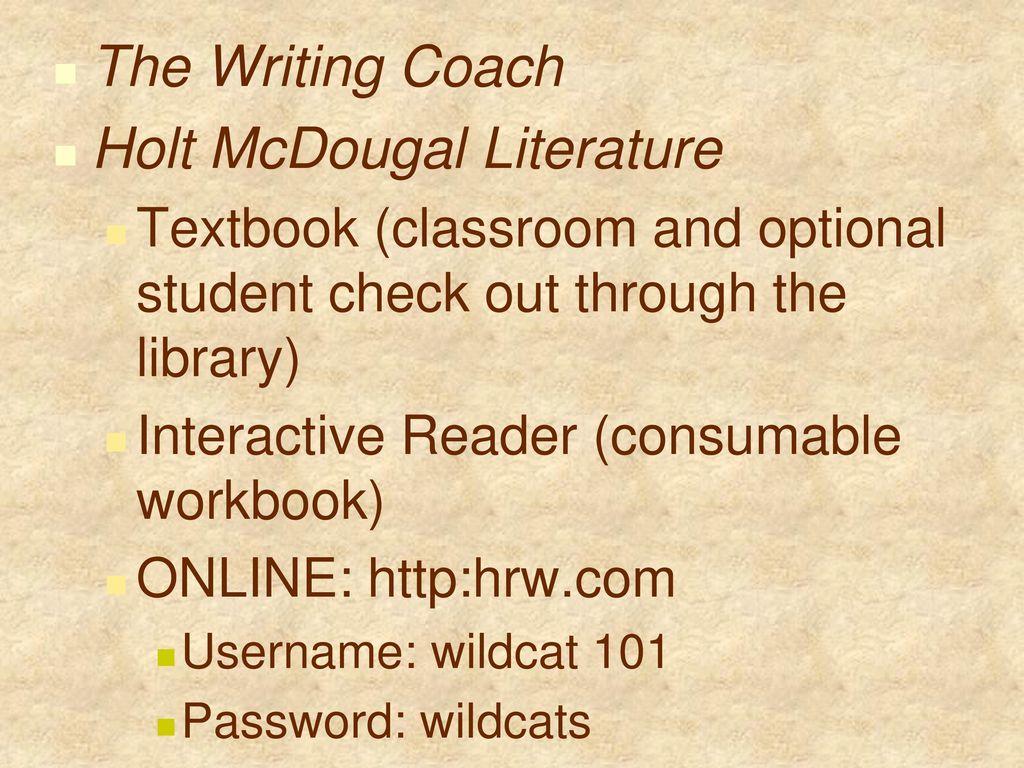 Dana McMillan English II Dana McMillan - ppt download