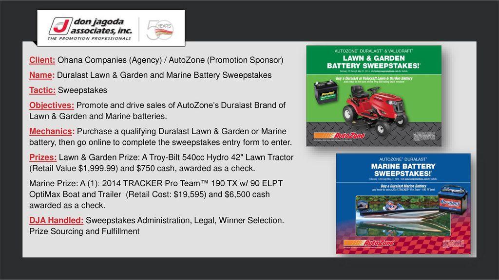 Client Ohana Companies Agency Autozone Promotion Sponsor