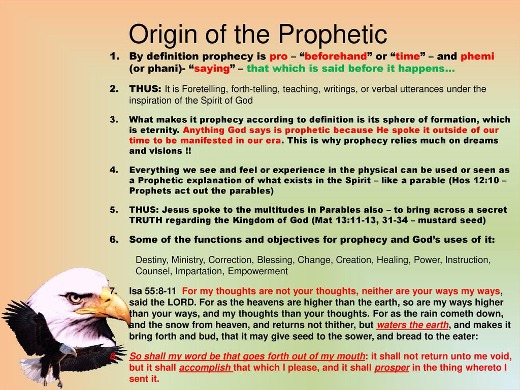 Basics of the Prophetic Ministry - ppt download
