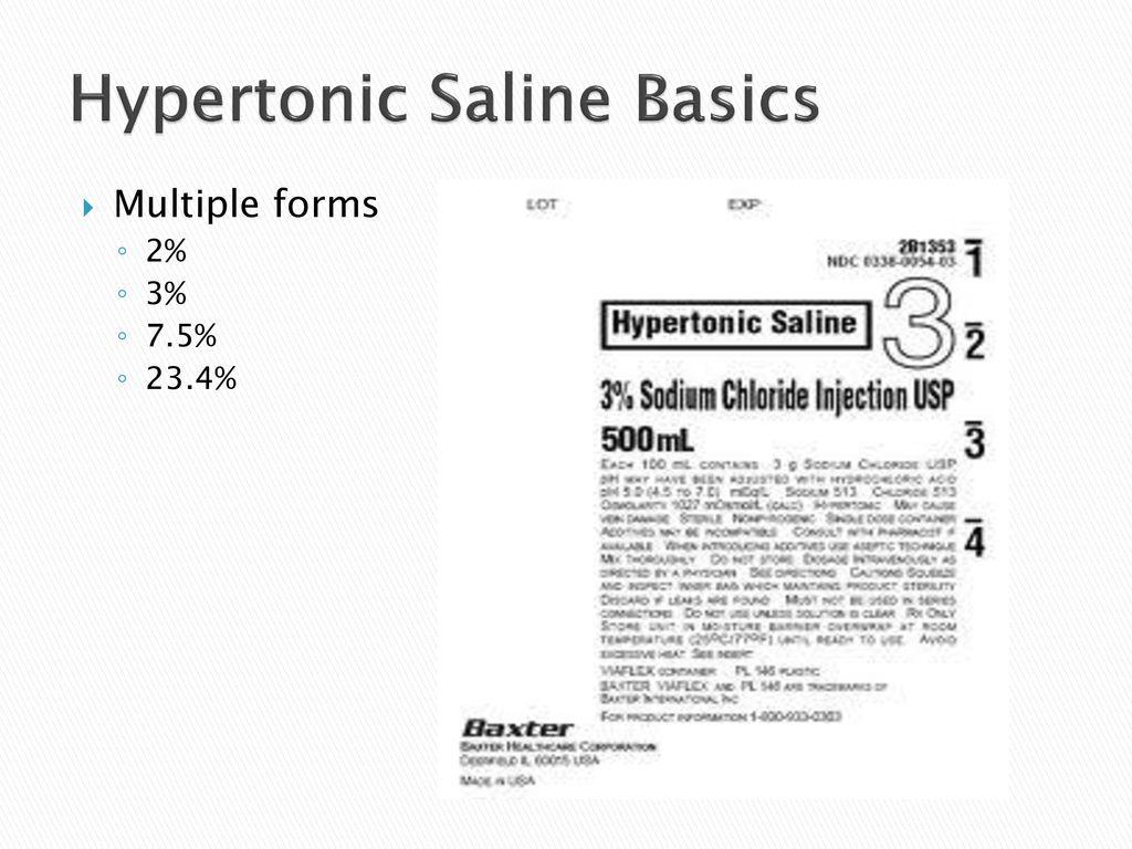 Hypertonic Saline Basics