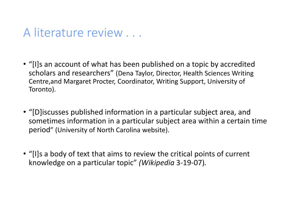 taylor dena procter margaret. the literature review a few tips on conducting it