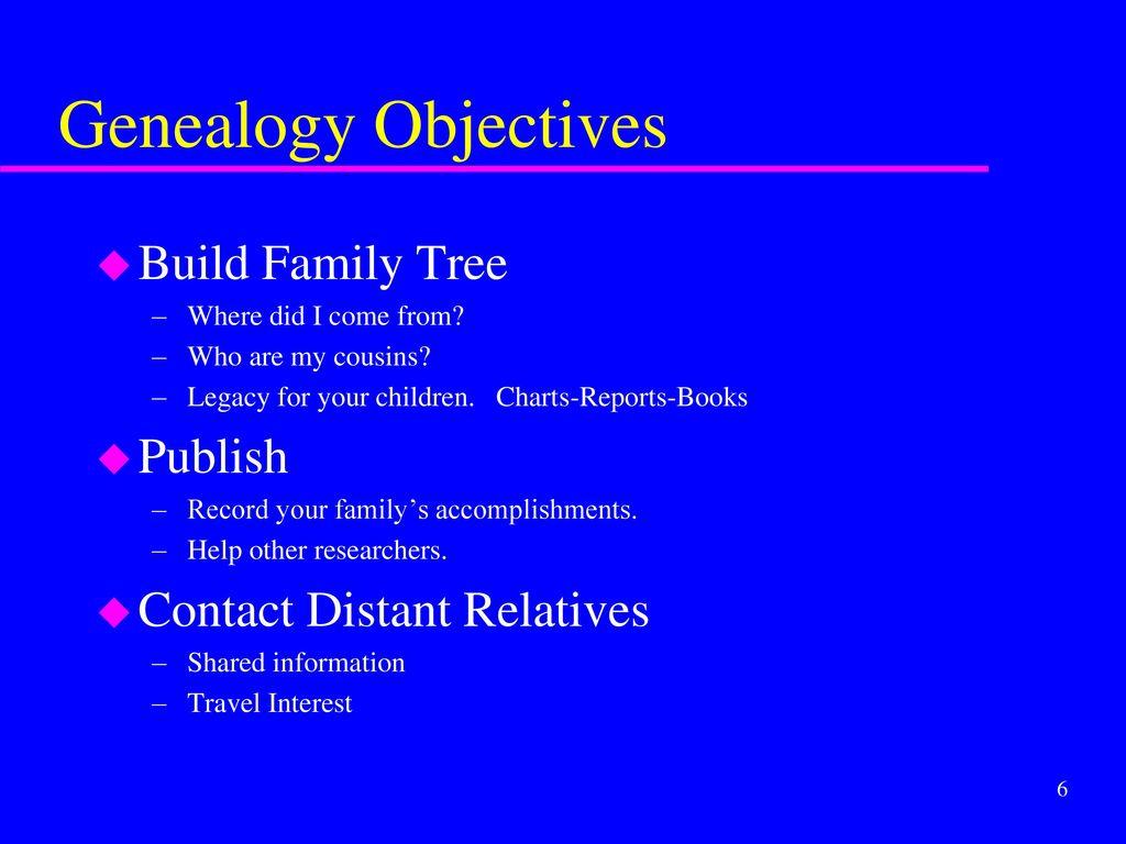 Genealogy Workshop for Patrick's Family History Group Sept