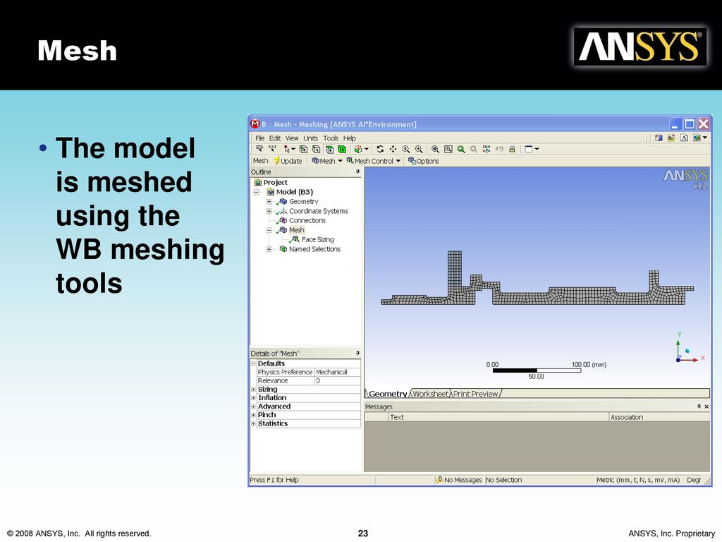Rotordynamics With Ansys Mechanical Solutions Ppt Download Synchronizing Selections Between Solidworksr And Comsol Multiphysics 23 Mesh The Model Is Meshed Using Wb Meshing Tools
