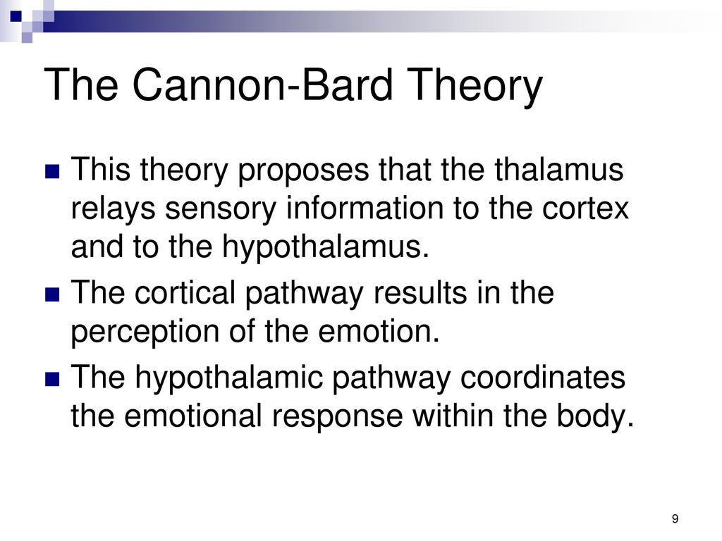 cannon bard thalamic theory