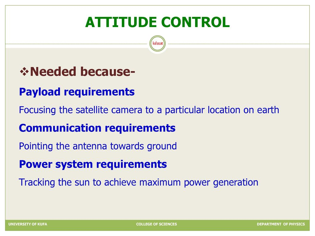 Kufasat Students Satellite Ppt Download Block Diagram Of The Attitude Control And Maneuvering Electronics 12