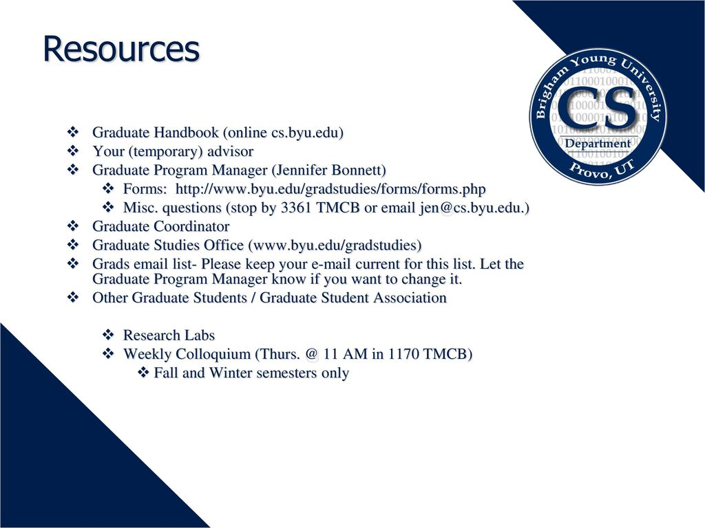 Graduate Programs in Computer Science - ppt download