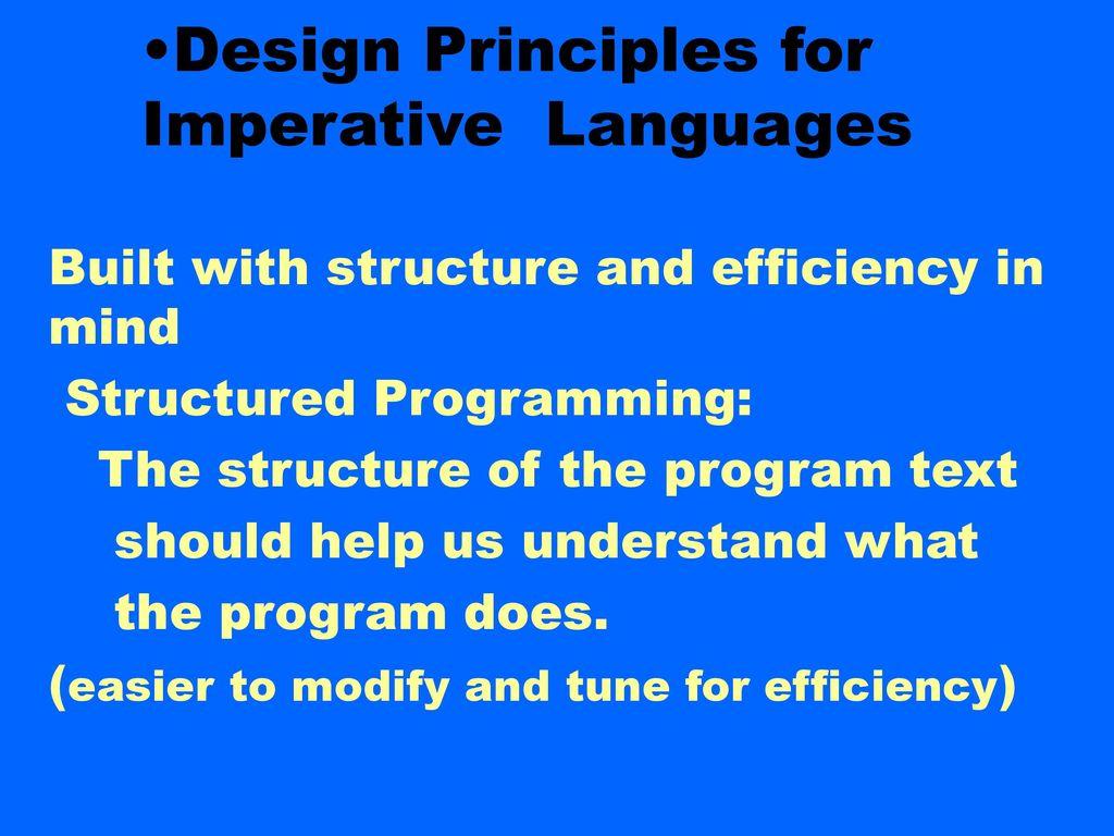 Structural Programming: Basic Principles 27