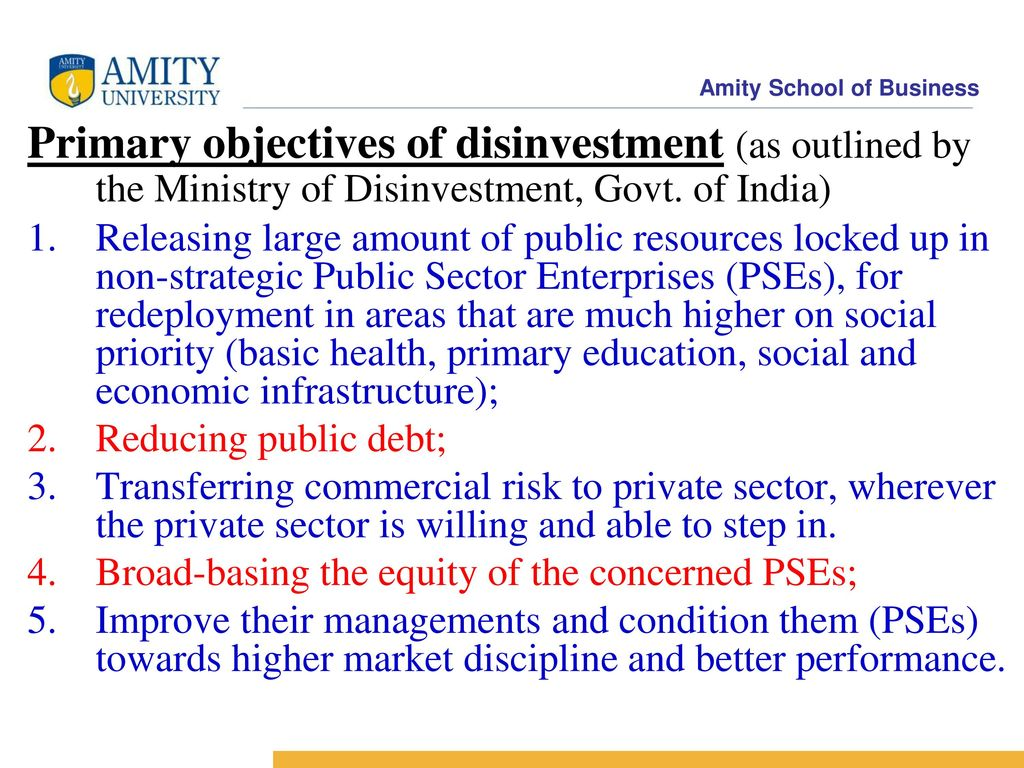 Disinvestment in public sector pptx bibado investments slogans