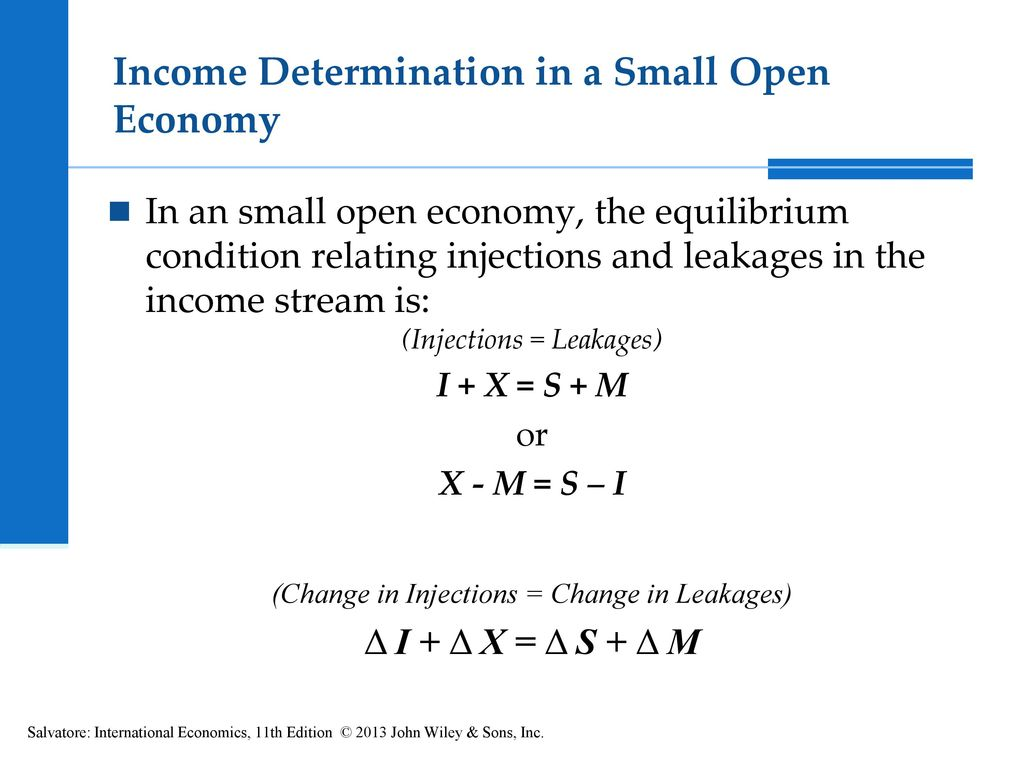 injections and leakages in the economy