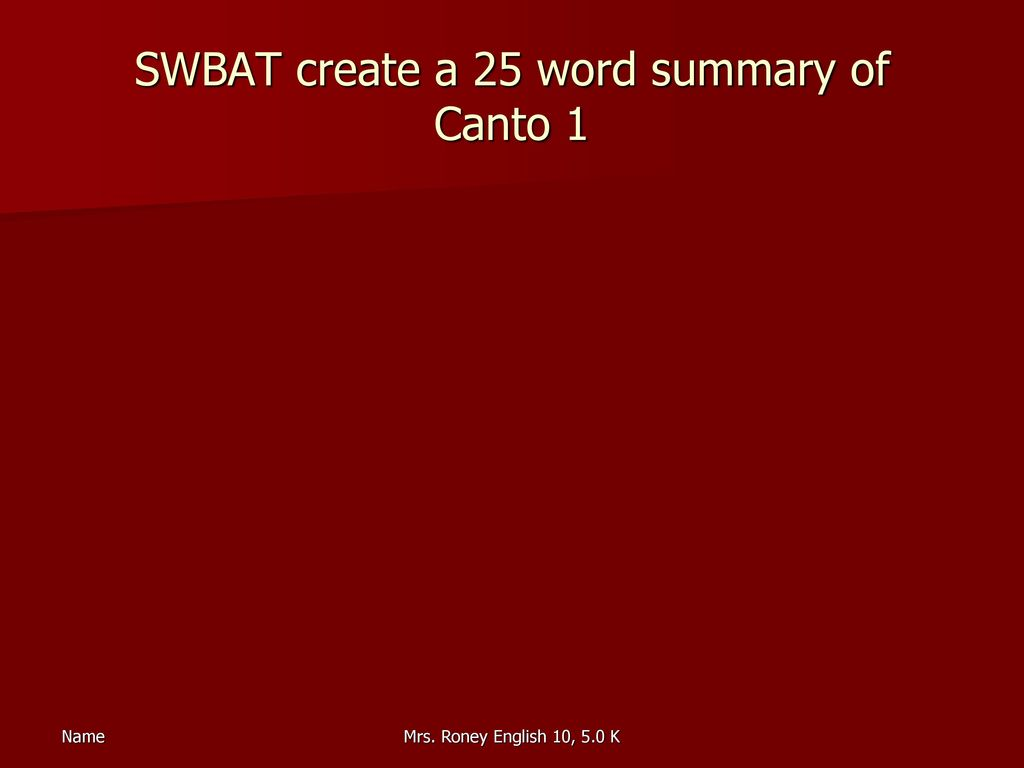 canto 1 summary