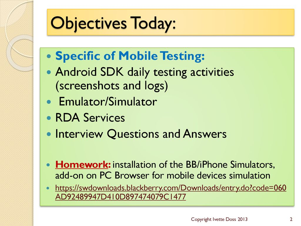 Mobile Testing – Survival Knowledge – Part V - ppt download