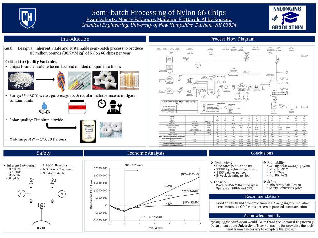 Semi-batch Processing of Nylon 66 Chips Ryan Doherty, Meissy Fakhoury,  Madeline Frattaroli