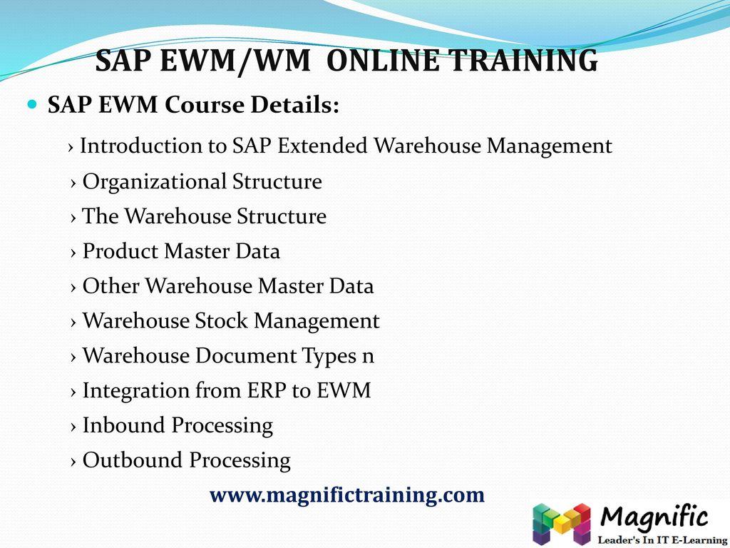 SAP EWM/WM ONLINE TRAINING - ppt download