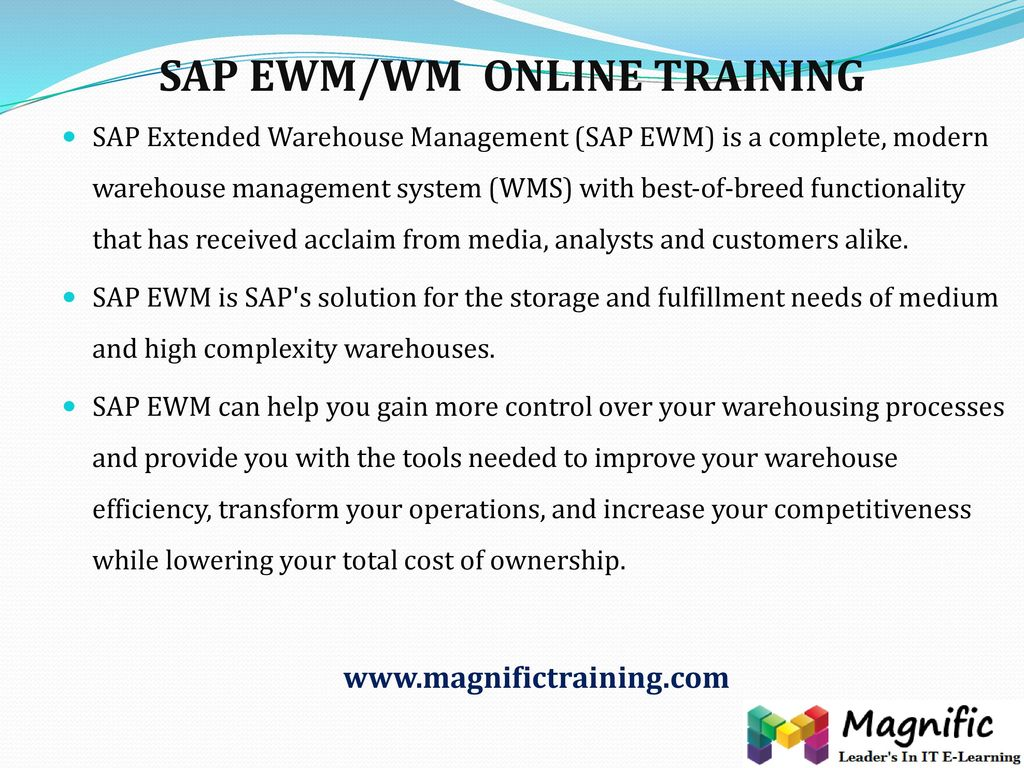 SAP EWM/WM ONLINE TRAINING - ppt download