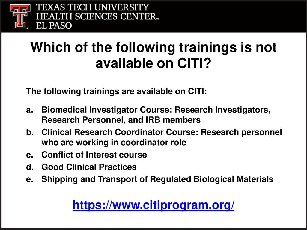 Training Requirements For Pi And Research Staff Ppt Download