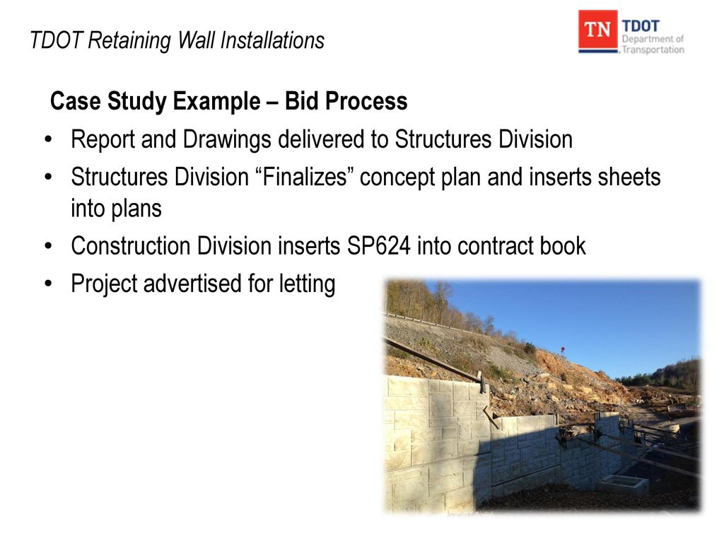 TDOT Retaining Wall Installations - ppt download