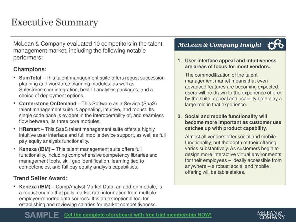 Vendor Landscape: Talent Management Suites - ppt download
