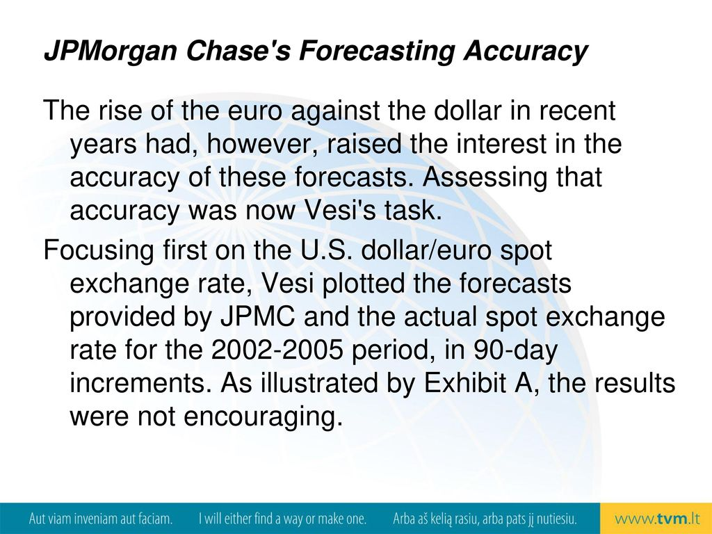 Jpmorgan Chase S Forecasting Accuracy