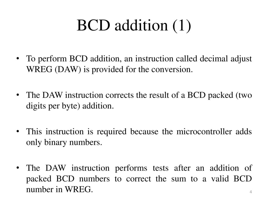 Lecture 5 Assembly Language Programming Ppt Download Binary To Bcd Converter Pictures 4
