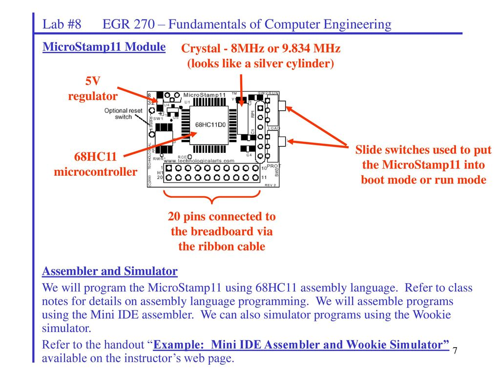 Lab #8 EGR 270 – Fundamentals of Computer Engineering