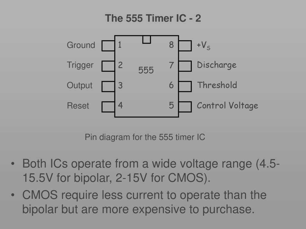 In The Astable Operation Mode 555 Timer Circuit Triggers Key Stage Ic Using A As Monostable 2 Ground Vs Trigger Discharge Output Threshold