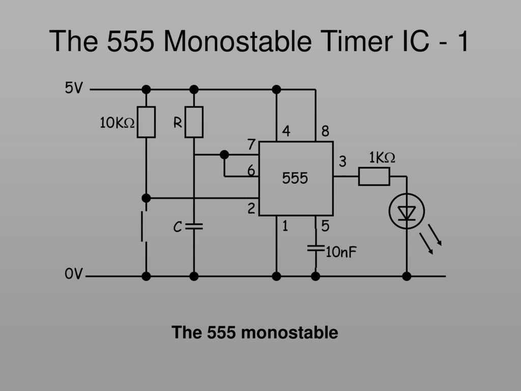 Key Stage Ic Using A 555 As Monostable Astable Circuit For Timer The 1