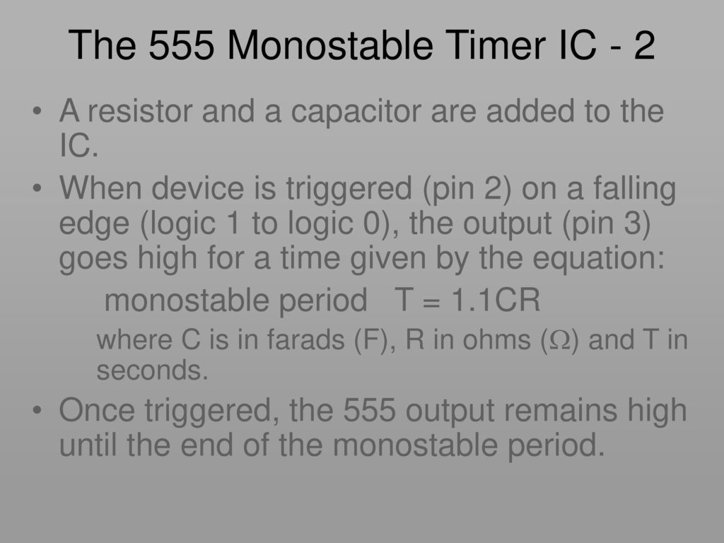 Key Stage Ic Using A 555 As Monostable Astable Circuit Designer Timer Calculator The 2