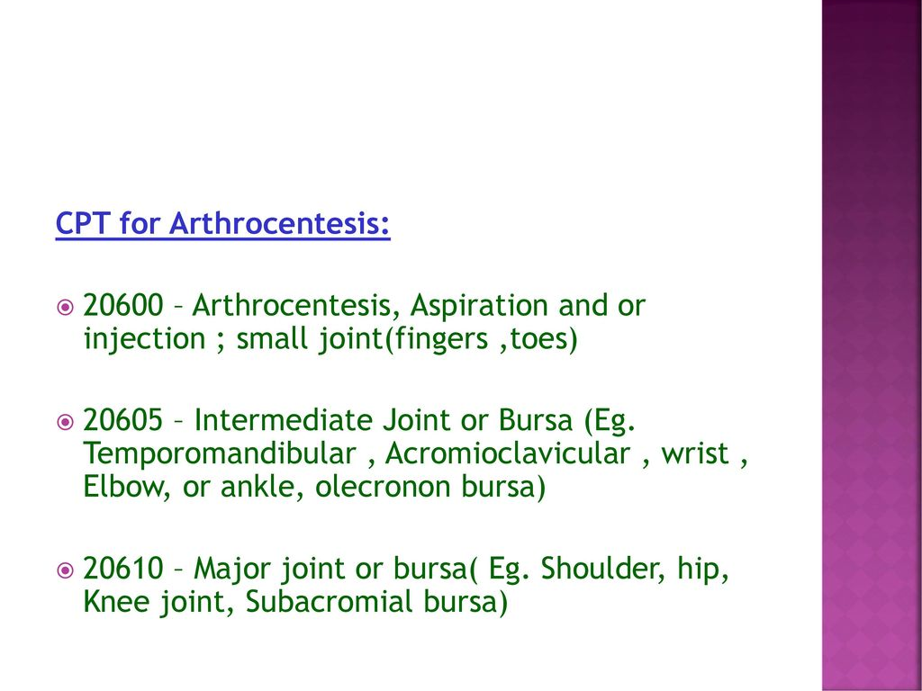 CURRENT PROCEDURAL TERMINOLOGY - ppt download