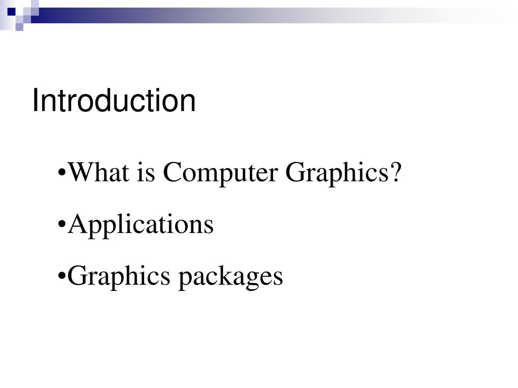 Computer graphics by hearn and baker ppt