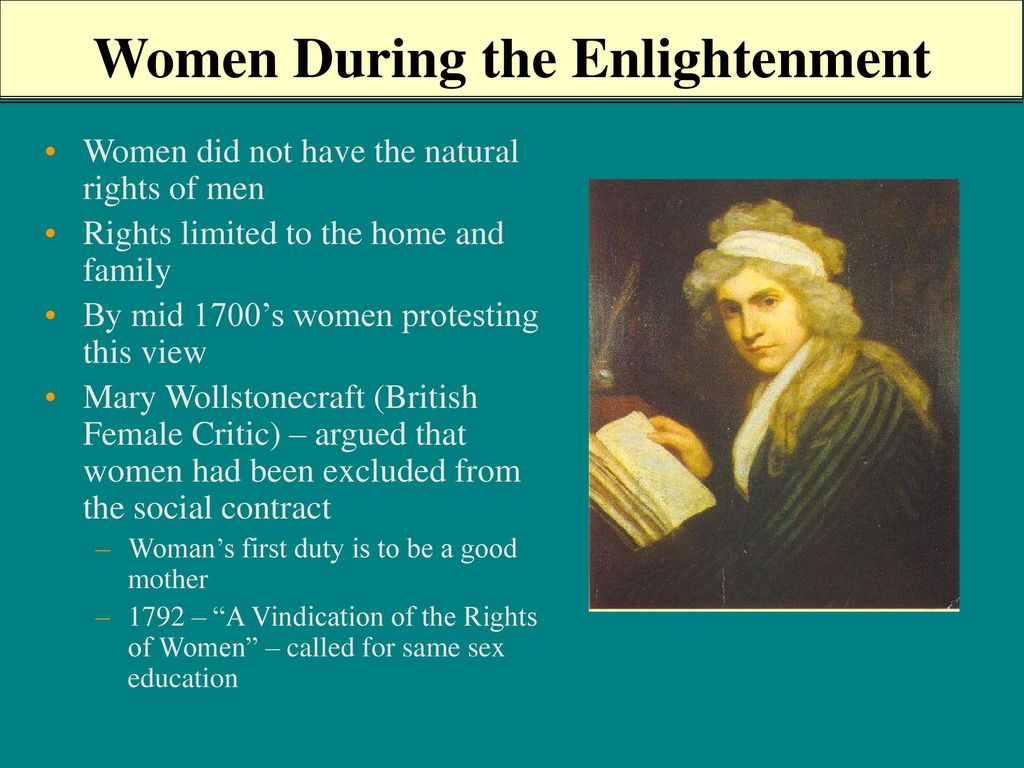 women during the enlightenment