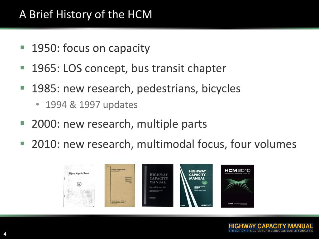 A Brief History of the HCM