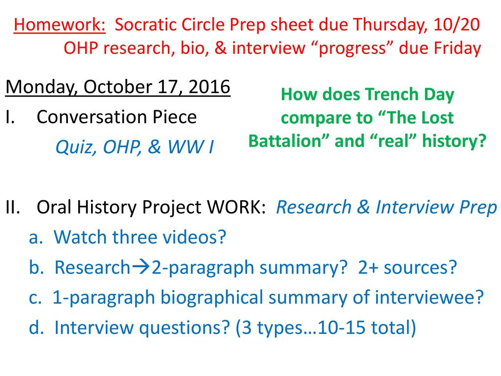 Week 8 October 17 21 2016 Ohp World War I Ppt Download