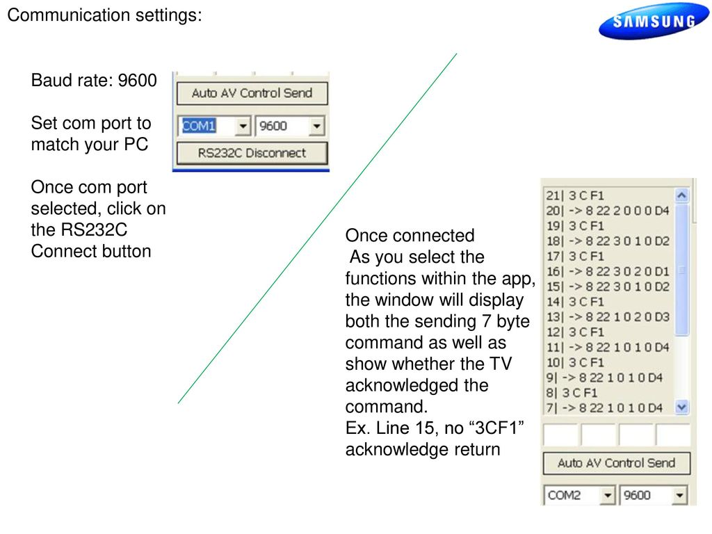 Samsung Ex-link RS-232 Control - ppt download