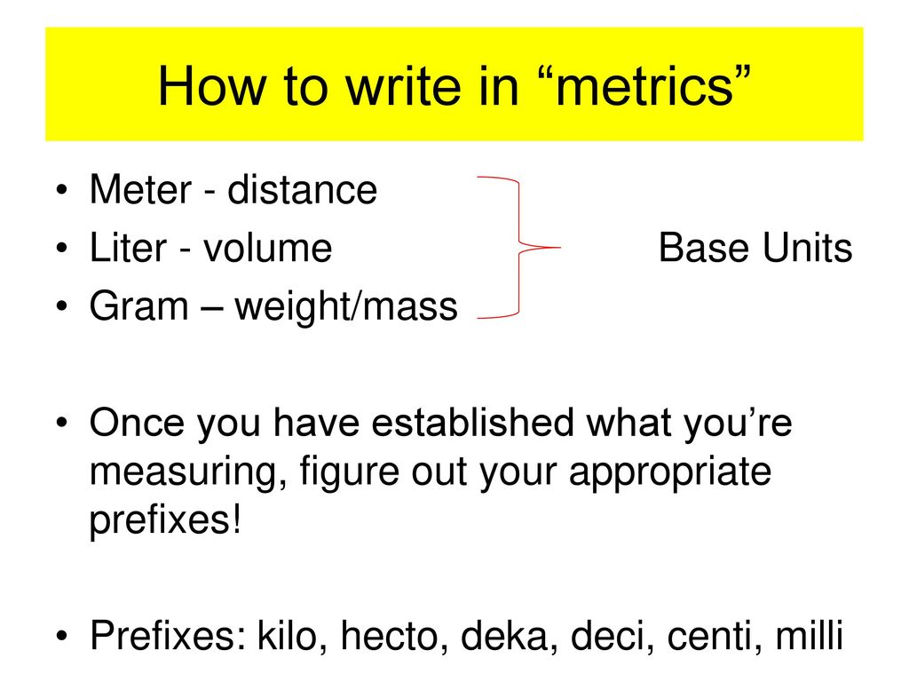 metric conversions ladder method - ppt download