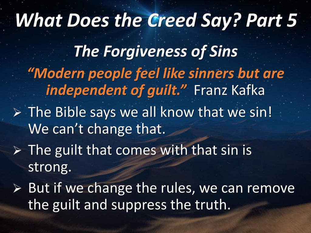What Does the Creed Say? Part 5 - ppt download